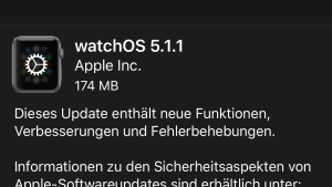 watchOS 5.1.1 installiert (Foto: SmartPhoneFan.de)