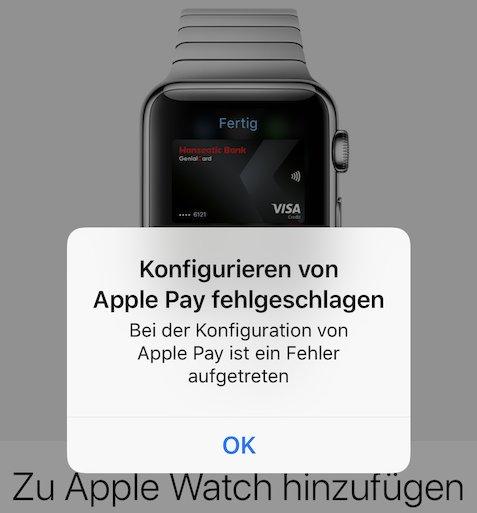 Probleme mit Apple-Pay-Start auf der Apple Watch (Foto: SmartPhoneFan.de)