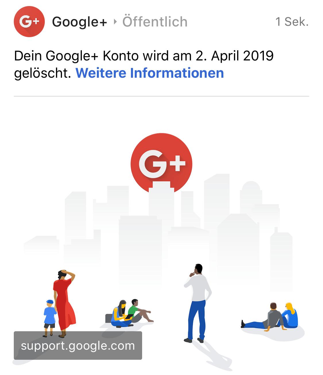 Google+ zieht den Stecker (Foto: SmartPhoneFan.de)