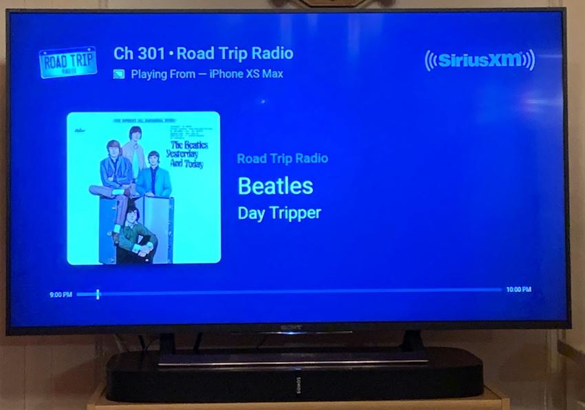 SiriusXM via GoogleCast auf dem Fernseher (Foto: SmartPhoneFan.de)