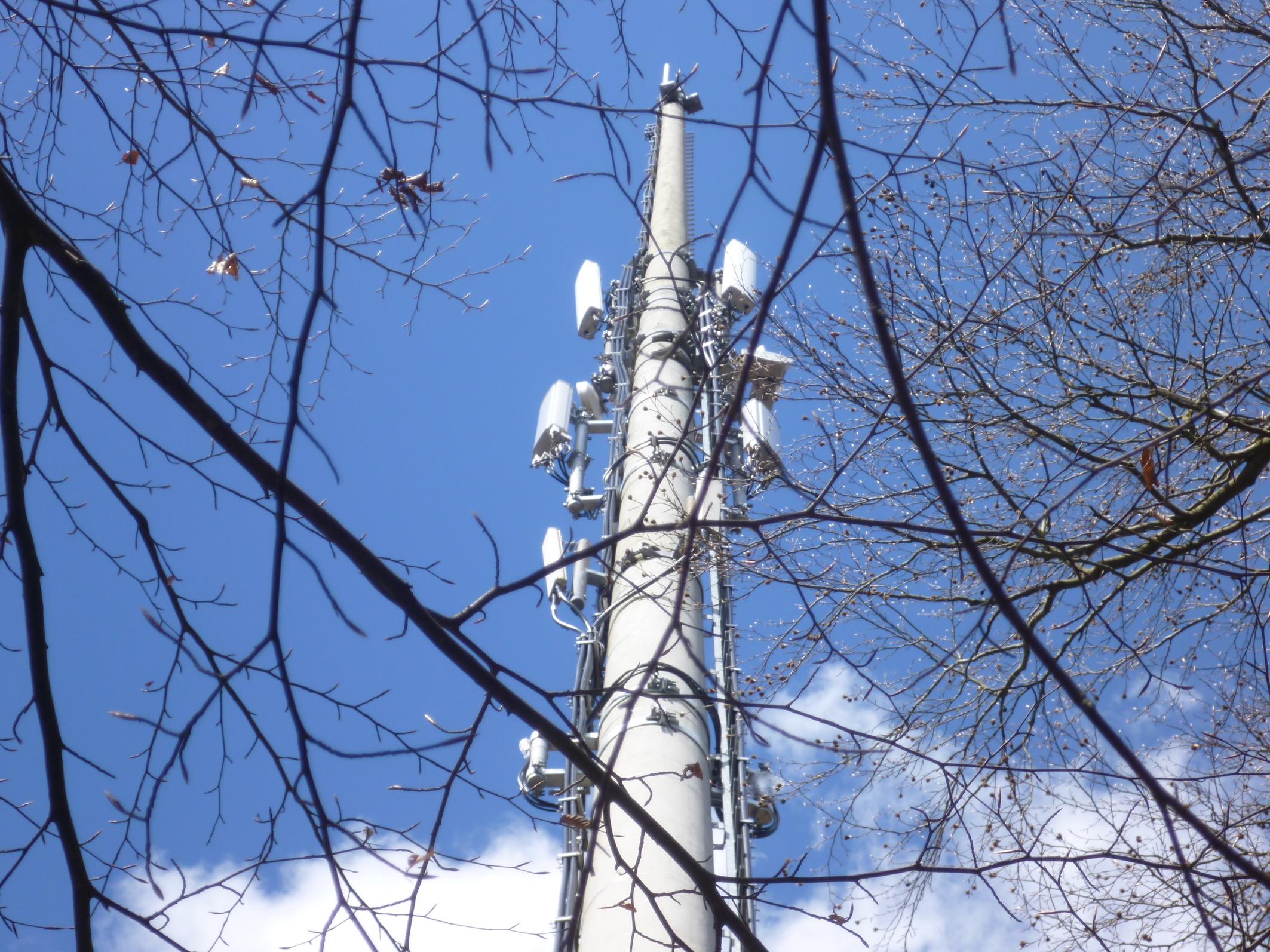 Mobilfunk-Basisstation im Biebergemünder Obergrund (Foto: SmartPhoneFan.de)
