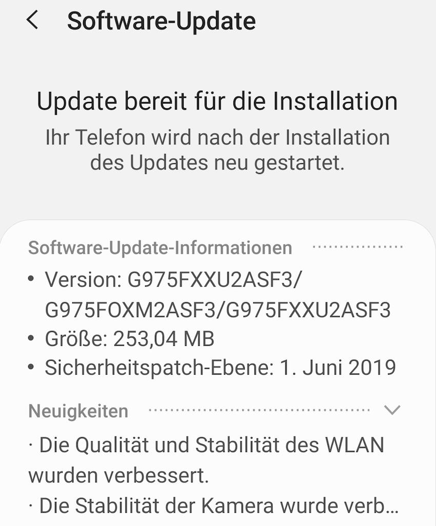Samsung Galaxy S10+ bekommt Juni-Update (Foto: SmartphoneFan.de)