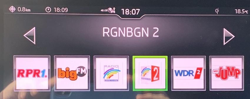 Neue RDS-Kennung von Regenbogen 2 (Foto: SmartPhoneFan.de)