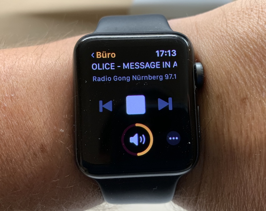 Lyd-App auf der Apple Watch (Foto: SmartPhoneFan.de)
