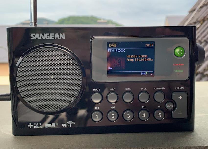 Nordhessen-Mux-Empfang mit dem Sangean WFR-27C (Foto: SmartPhoneFan.de)