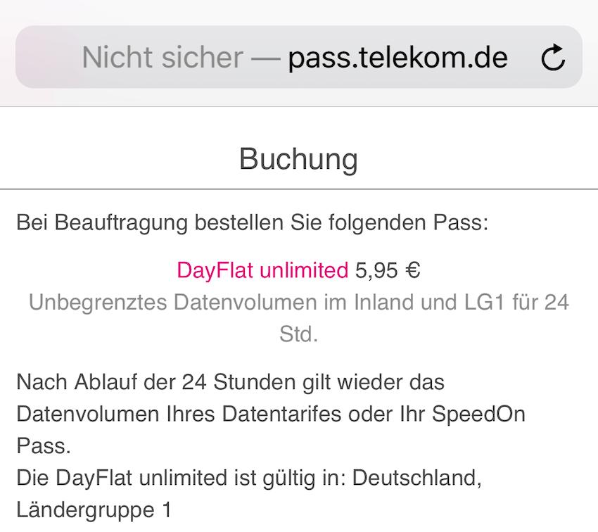 DayFlat unlimited weiter EU-weit verfügbar (Foto: SmartPhoneFan.de)