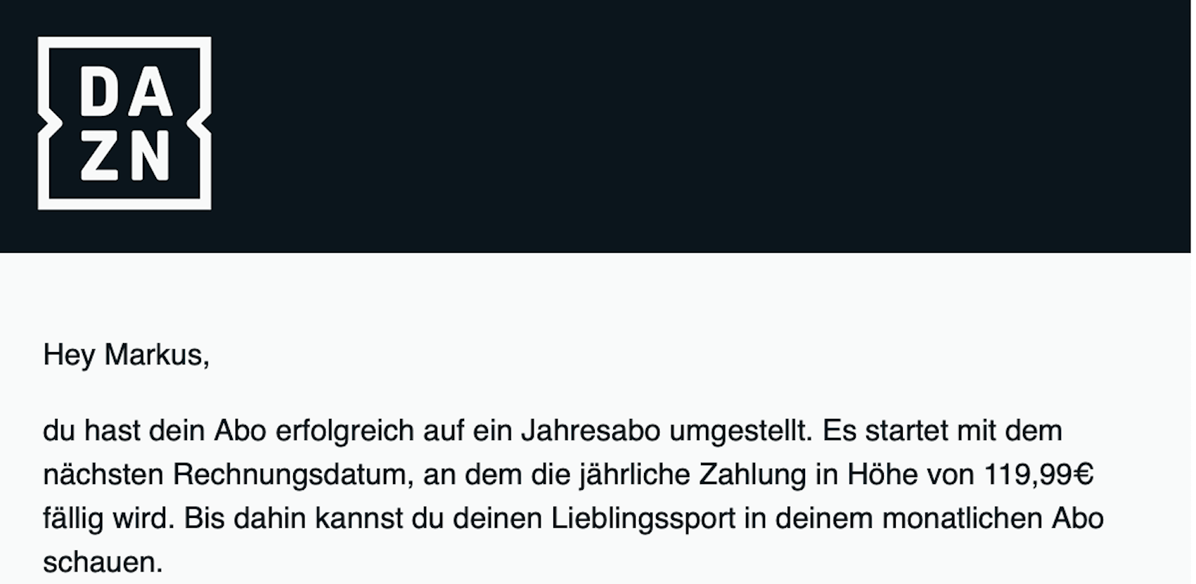 Jahresabo bei DAZN (Foto: SmartPhoneFan.de)