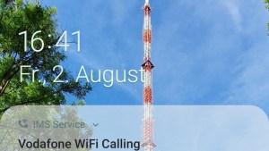 WiFi-Calling-Hinweis von Vodafone (Foto: SmartPhoneFan.de)