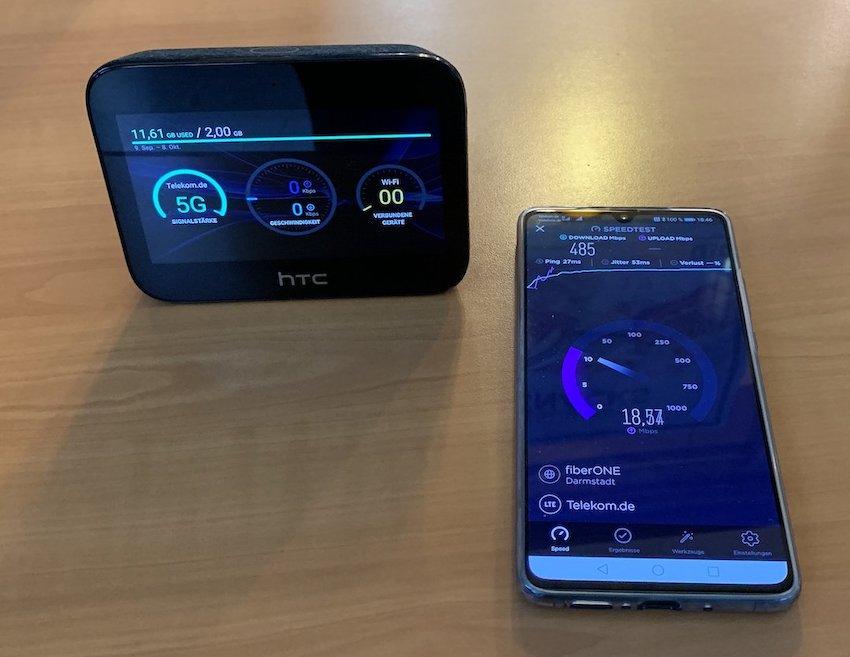 5G-Test mit zwei Geräten (Foto: teltarif.de)