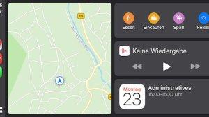Neue Oberfläche für Apple CarPlay (Foto: SmartPhoneFan.de)