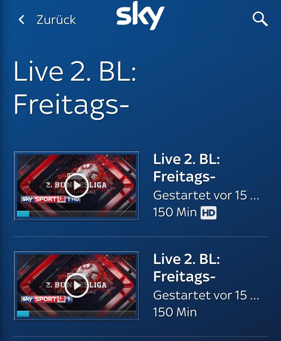 Zweite Liga bei Sky Go in HD und SD (Foto: SmartPhoneFan.de)