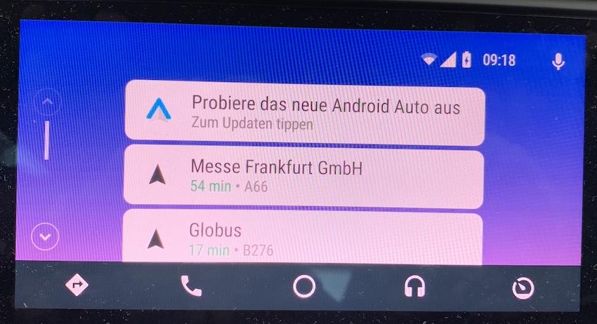 Upgrade-Angebot bei Android Auto (Foto: SmartPhoneFan.de)