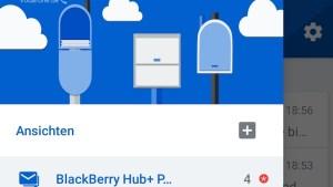 Blackberry Hub+ auf dem Huawei Mate 20X 5G (Foto: SmartPhoneFan.de)