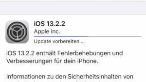 iOS 13.2.2 installiert (Foto: teltarif.de)
