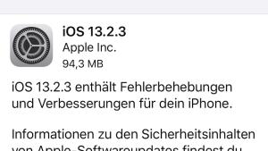 iOS 13.2.3 installiert (Foto: SmartPhoneFan.de)