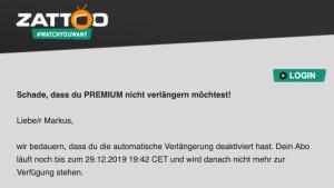 Zattoo gekündigt (Foto: SmartPhoneFan.de)