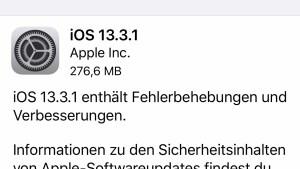 iOS 13.3.1 installiert (Foto: SmartPhoneFan.de)