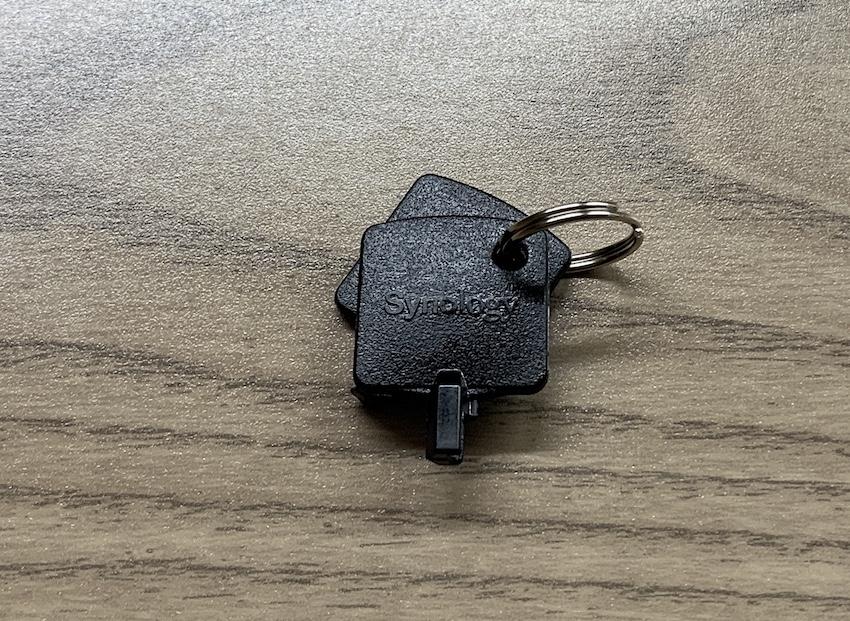 Ersatzschlüssel von Synology (Foto: SmartPhoneFan.de)