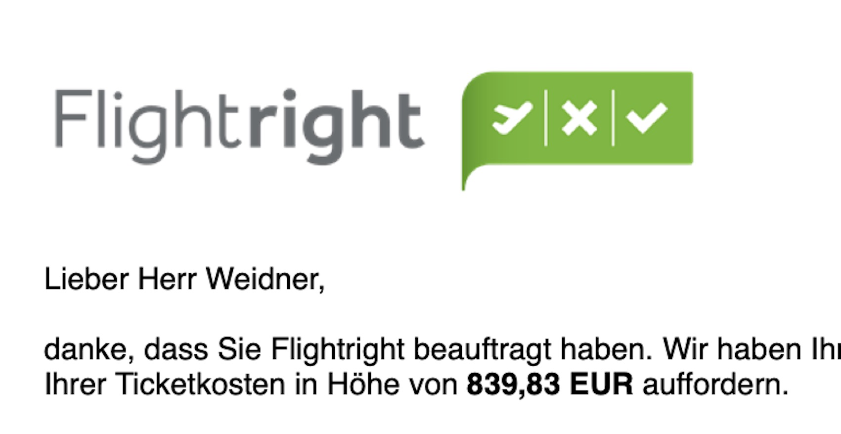Flightright beauftragt (Foto: SmartPhoneFan.de)