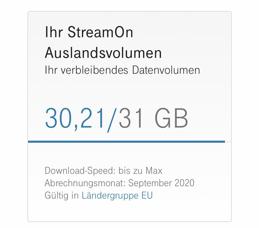 StreamOn-Test im Ausland (Foto: SmartPhoneFan.de)