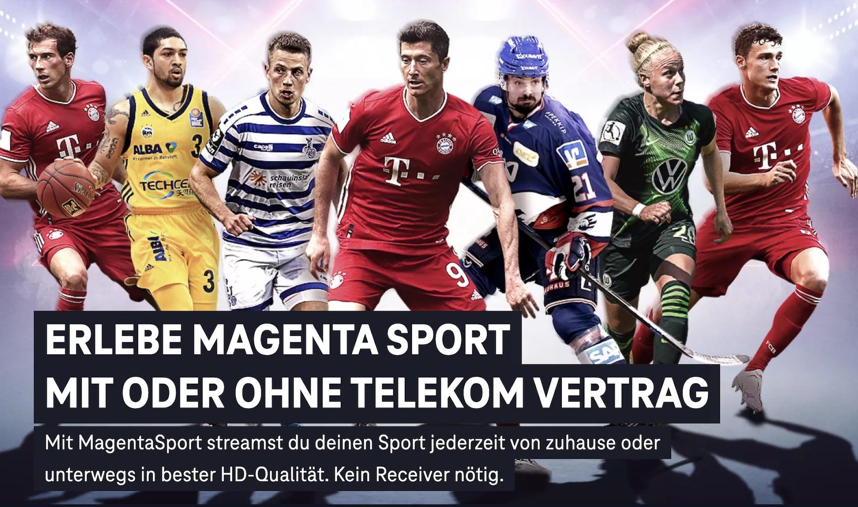Werbung für MagentaSport (Quelle: Telekom, Screenshot: SmartPhoneFan.de)