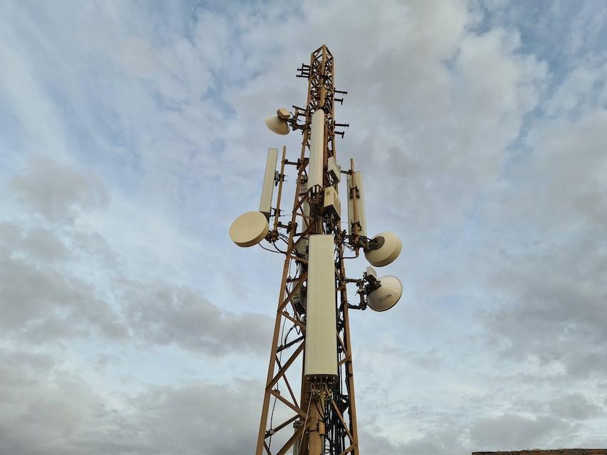 Mobilfunkmast in der Nähe von Ajuy (Foto: SmartPhoneFan.de)