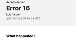 Kein Zugriff auf KOLA 99.9 Webseite (Screenshot: SmartPhoneFan.de)