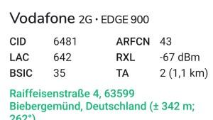 Deutlich stärkeres GSM-Signal von Vodafone (Foto: SmartPhoneFan.de)