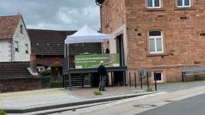 Corona-Testzentrum in Roßbach (Foto: SmartPhoneFan.de)