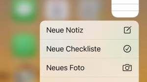Apple-Notizen-App auf dem iPhone (Foto: SmartPhoneFan.de)