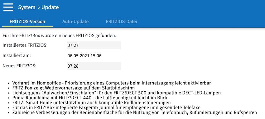 FRITZ!Box-Update installiert (Foto: SmartPhoneFan.de)