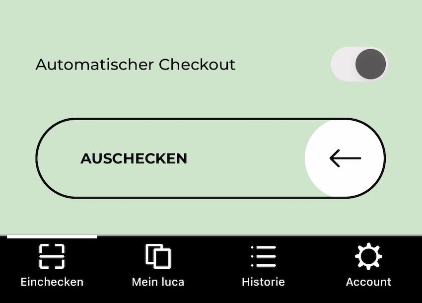 Automatischer Checkout mit der Luca App (Screenshot: SmartPhoneFan.de)