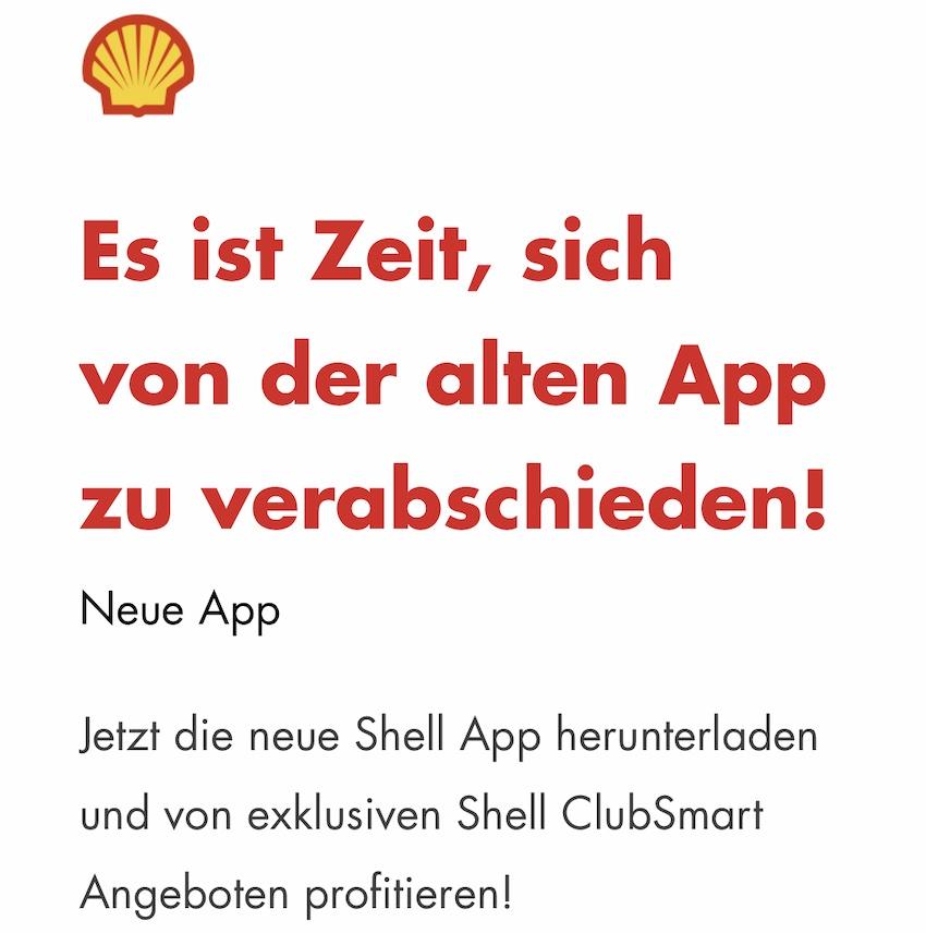 App-Update bei Shell (Screenshot: SmartPhoneFan.de)