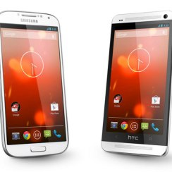 HTC One Galaxy S4 Google Edition