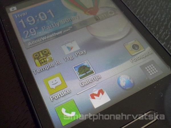 LG Optimus L3 2 zaslon