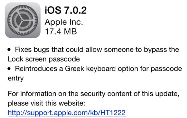iOS 7.0.2 nadogradnja ispravlja sigurnosni bug