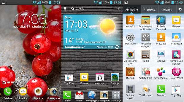 LG Optimus L7 2 recenzija softver