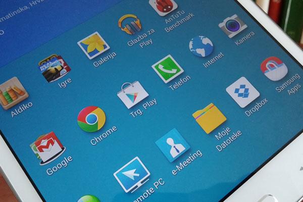 galaxy tab pro 8.4 recenzija softver zaslon