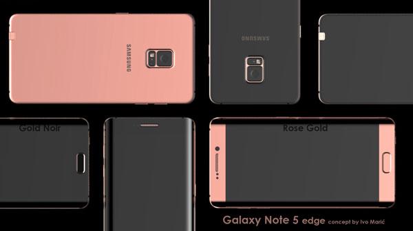 Galaxy Note 5 edge koncept
