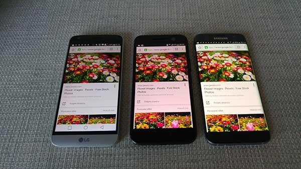 LG G5 vs. HTC 10 vs. Galaxy S7 edge - troboj zaslona (2)