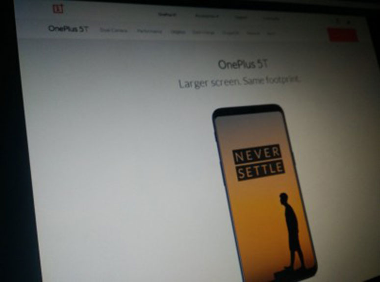 OnePlus 5T još jednom pokazao svoj dizajn, nudi veći zaslon gabaritima OnePlusa 5