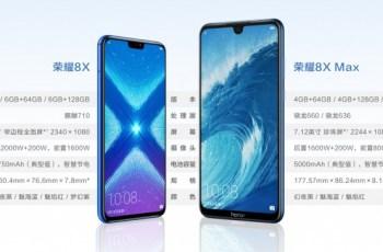 Honor 8x i honor 8x max službeno