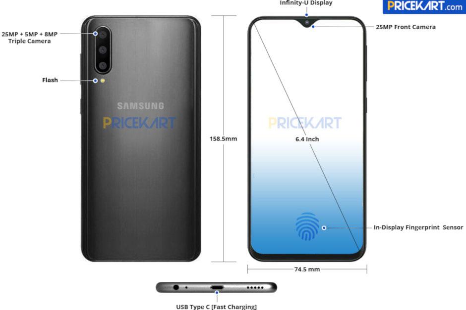 Prvi render Galaxya A50 iz Samsunga najavljuje vrlo zanimljiv uređaj