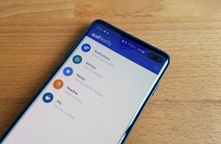 aodNotify - još jedna cool aplikacija za obavijesti na zaslonu Galaxya S10 i ekipe