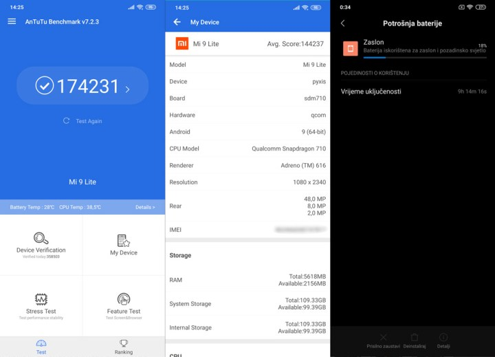 Xiaomi Mi 9 Lite Recenzija