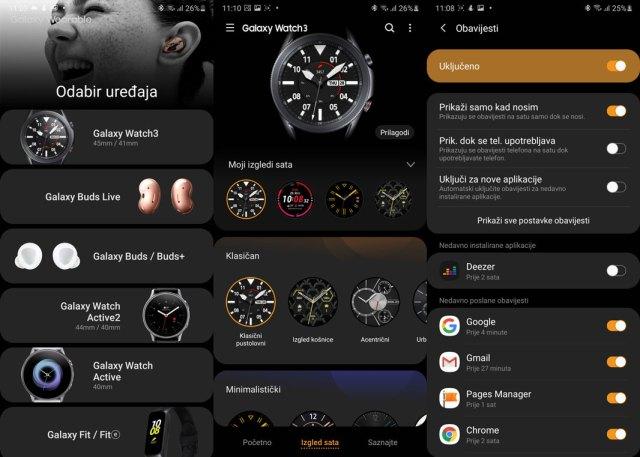 Galaxy Watch 3 Galaxy Wearable app
