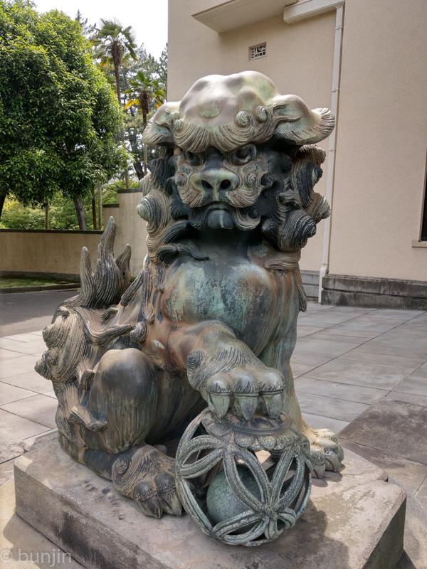 Guardian dog of TOKYO METROPOLITAN TEIEN ART MUSEUM