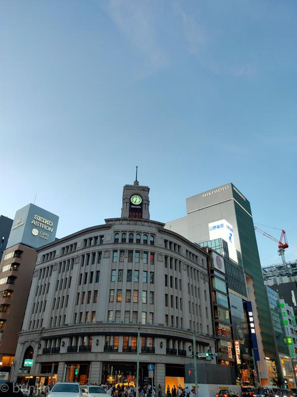 Clock tower at GINZA