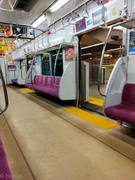 正月の電車はガラガラ