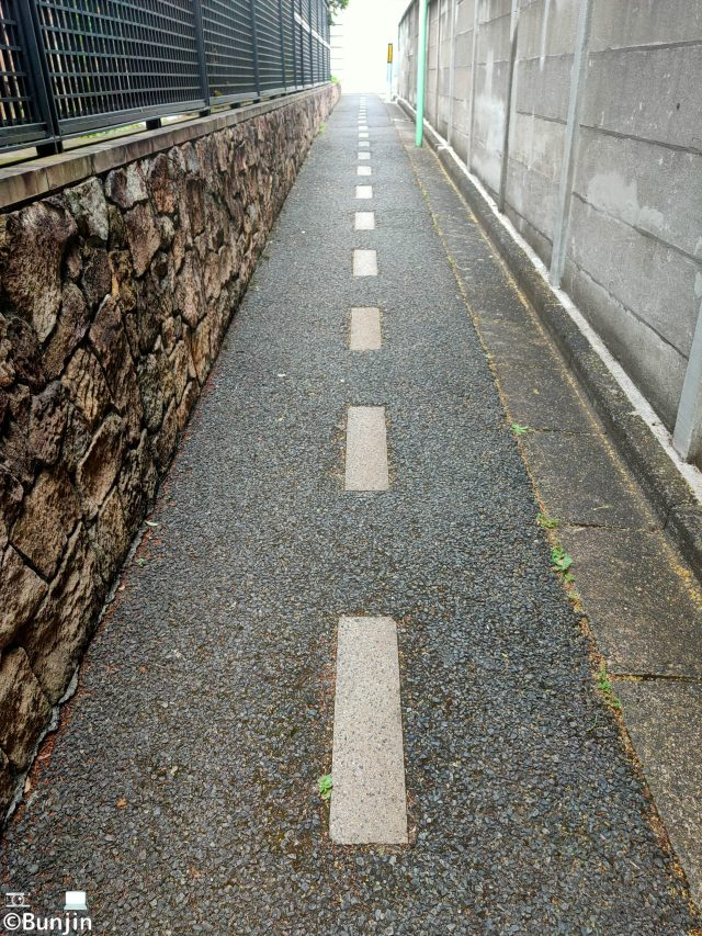 Two-lane road that is too narrow